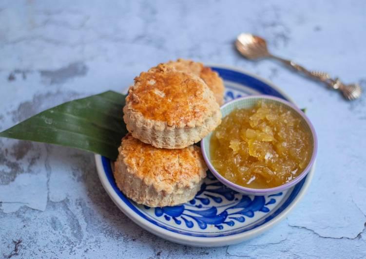 Coconut scone