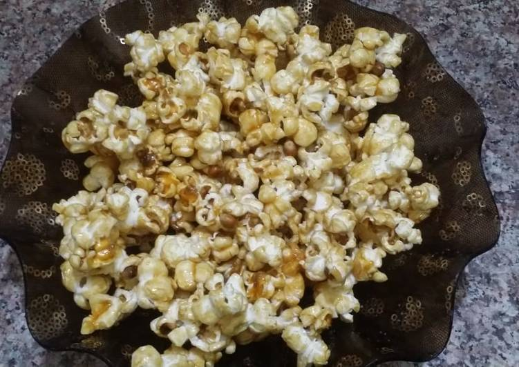 Easiest Way to Make Top-Rated Caramel popcorn