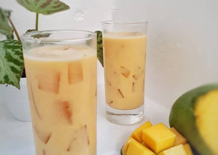 Mango Milk Drink / Es Mangga Jeli Susu
