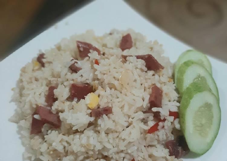 Resep Nasi goreng putih Bikin Jadi Laper