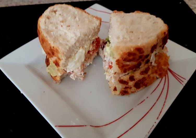Recipe: Tasty My Tigerbread Sandwich fresh chicken, tomatoes sliced, + more 😘