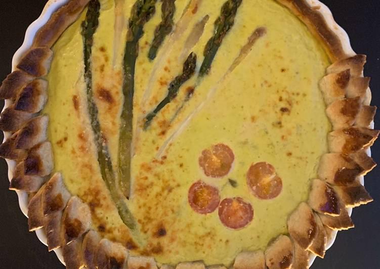 Tarte aux 2 asperges et parmesan