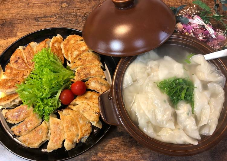 Easiest Way to Prepare Homemade Fried and Boiled Gyoza