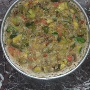 Tarta de zapallito, berenjena y brócoli
