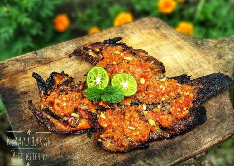 Kerapu bakar sambal lombok