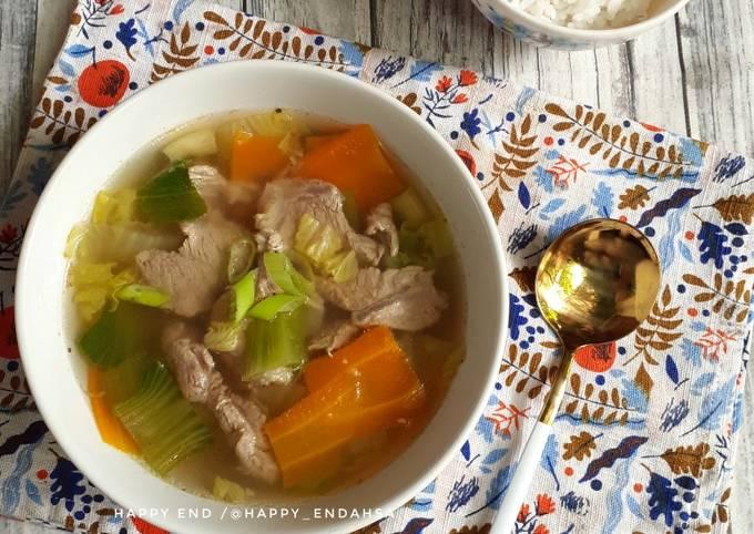 Sup Pakcoy Daging Sapi