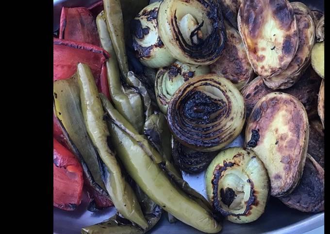 Légumes et pommes de terre grillés à la plancha