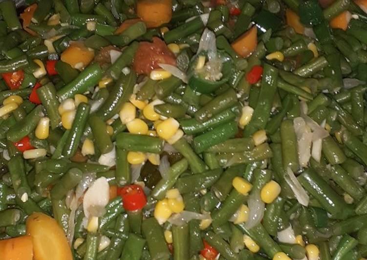 Tumis buncis mix wortel n jagung manis bumbu iris 🥳🥳🥳