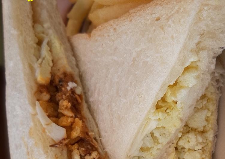 Resep Sandwich isi telur rebus yang Lezat