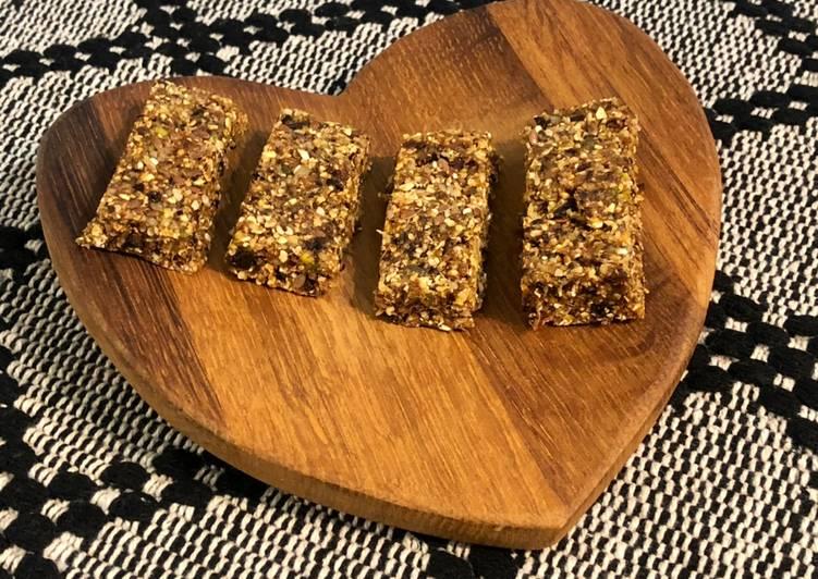 Recipe of Super Quick Homemade Prune Pistachio Almond Bars