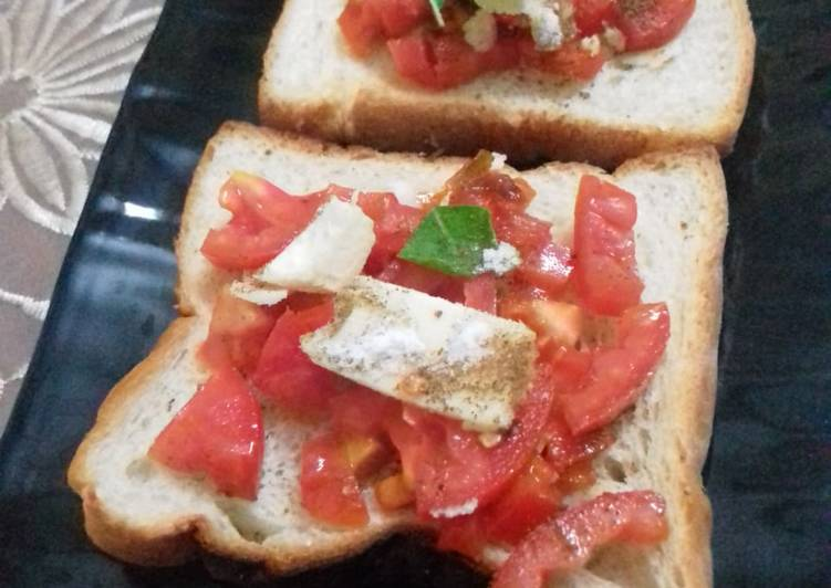 Recipe of Most Popular Bruschetta using bread