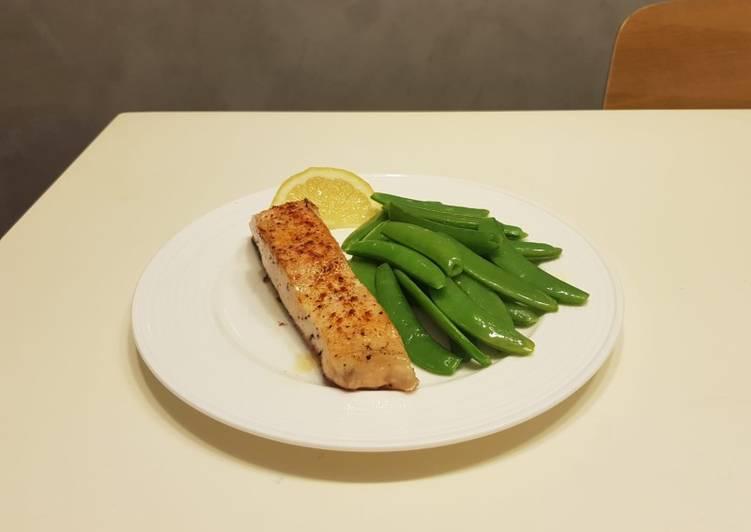 Simple Salmon steak