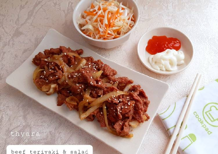 Beef Teriyaki & Salad ala (Hokben)