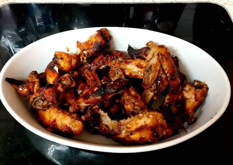 Recipe of Perfect My Peri peri & BBQ Sauce Chicken wings 🥰