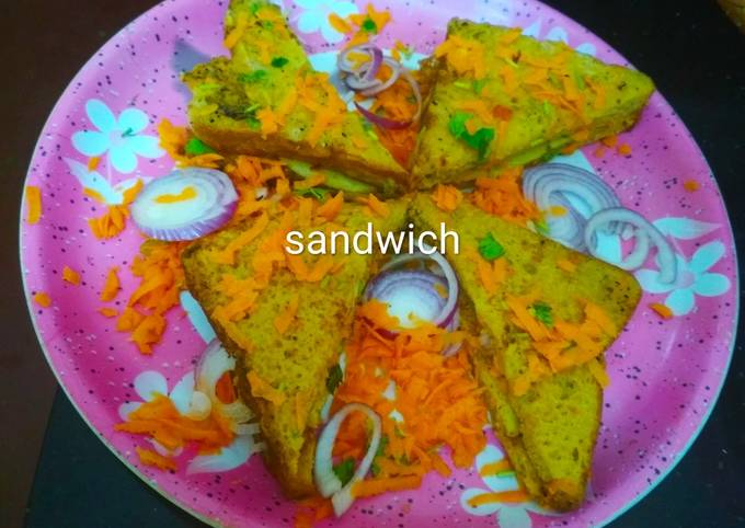 French toast Besan cheela sandwich