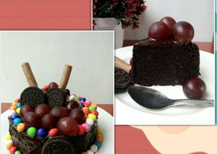 Cake Coklat Moist (no oven & mixer)