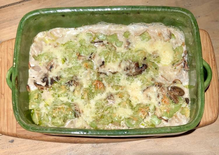 Recipe: Perfect Gratin de ravioles aux champignons