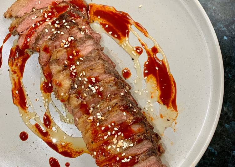 Simple Way to Prepare Homemade 20 hour sous vide beef brisket with salted honey and gochujang