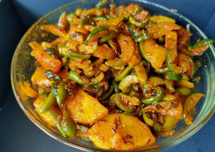 Recipe of Ultimate Tindola bataka nu shak (gourd with potato sabzi)