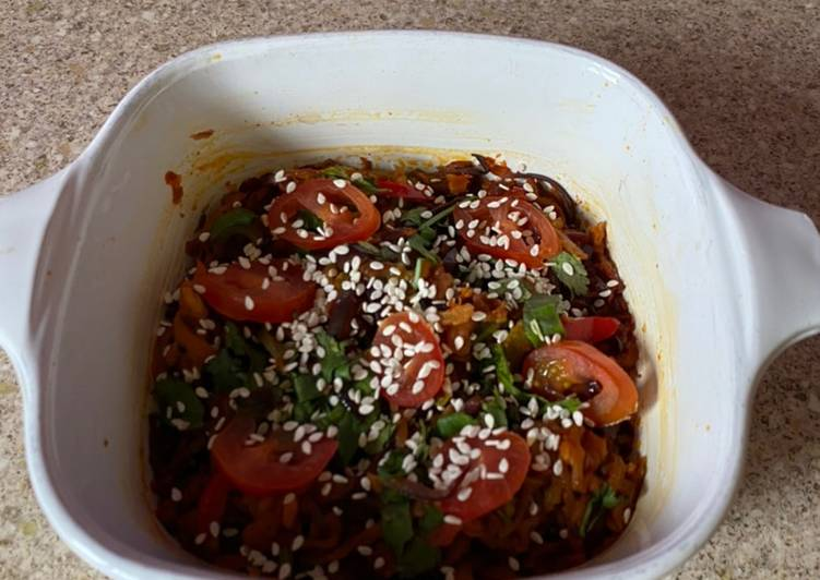 Steps to Make Top-Rated Grated aubergine stir fry
