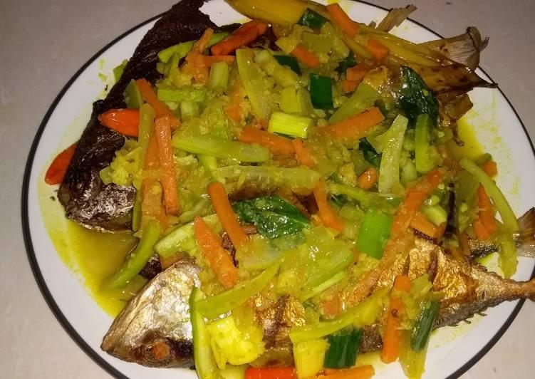 Ikan Masak Acar Kuning dengan Basil - cookandrecipe.com