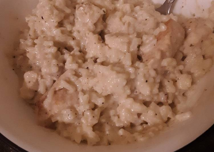 Simple Creamy Chicken and Rice