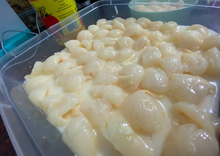 Lychees puding