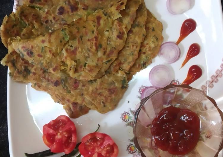Square layer healthy paratha