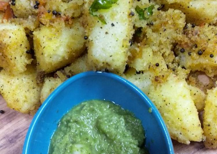 25 Minute Step-by-Step Guide to Prepare Quick Fried idli