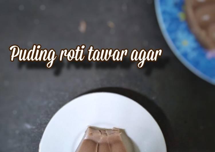 Puding roti tawar agar