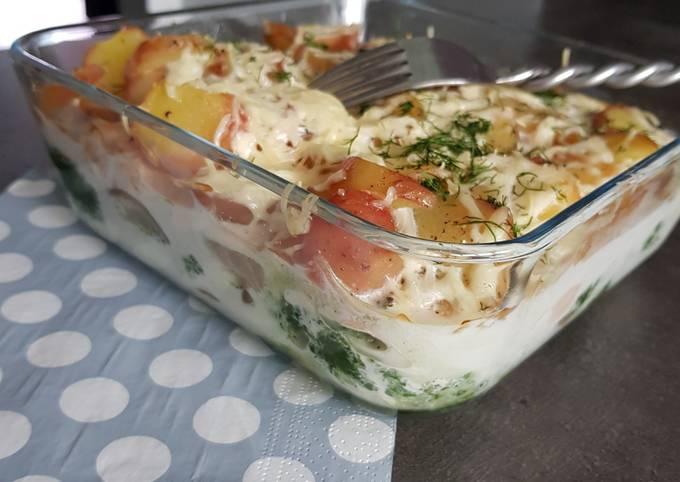 Lasagnes parmentiere au saumon épinard