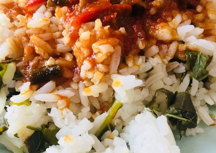 Steps to Prepare Favorite Vegetable rice with fish stew