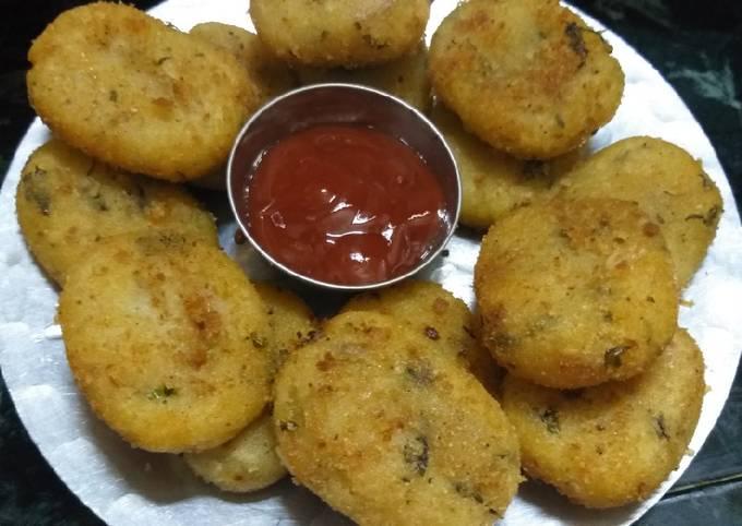 Semolina potato nuggets healthy snacks