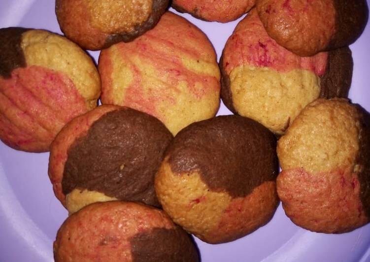 Tricolor cookies(neopolitan)