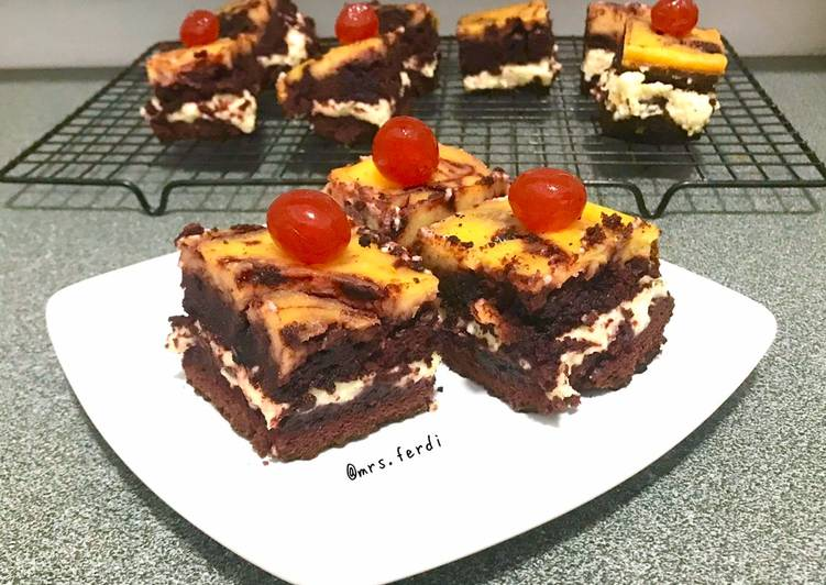 Brownies Red Velvet double cheese