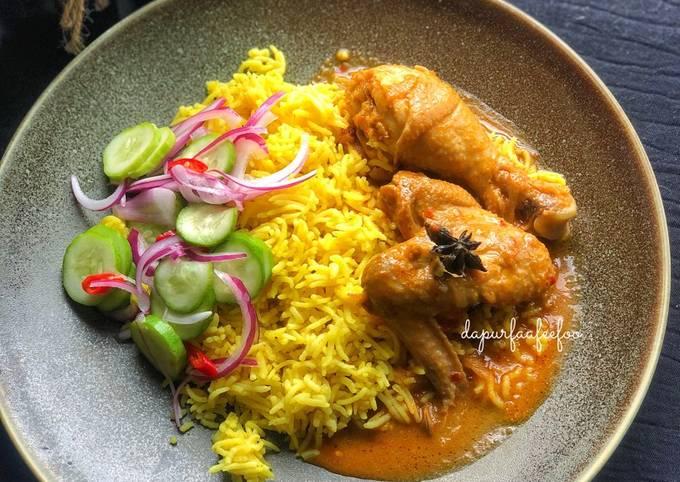 Bagaimana Membuat Nasi Minyak Gulai Ayam (TERENGGANU DARUL IMAN) yang Enak Banget
