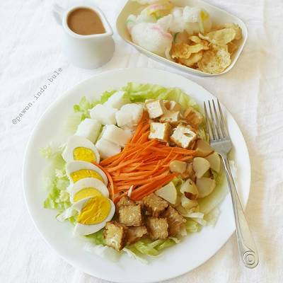 Indonesian Salad With Peanut Sauce Dressing Gado Gado Recipe By Pawon Indo Bule Cookpad