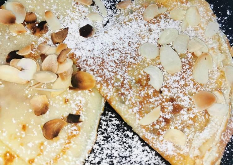 recette Crêpes aux sucre et amandes délicieux