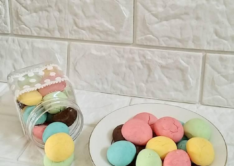 Egg drop rainbow cookies