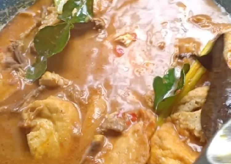 Gulai Ayam Suwir - Tahu