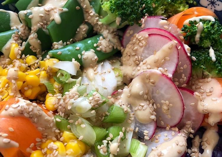 Rainbow Buddha Bowl - vegan