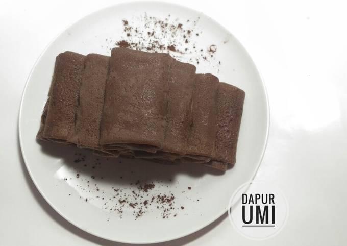 Cara Mudah Membuat Dadar gulung coklat isi unti kelapa,…