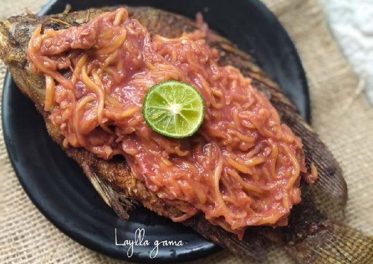 Ikan Nila goreng sambal mangga