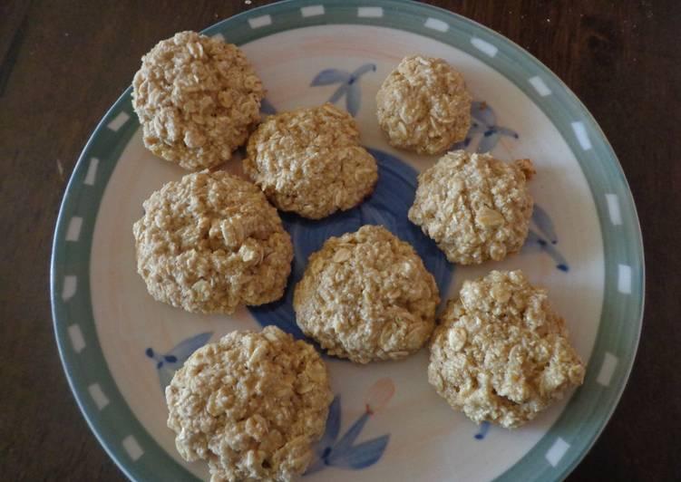 receta de galletas de avena sin harina sin azucar