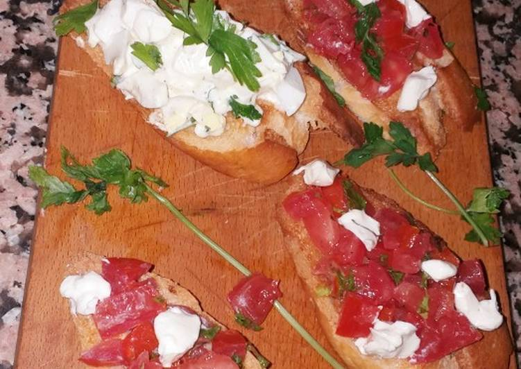 Top 5 Meilleures Recettes de Bruschetta a la tomate، oeuf mimosa