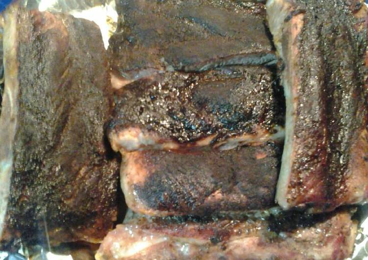 Mayan chocolate rubbed ribs