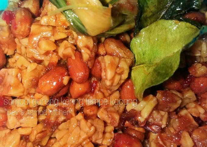 sambal goreng kering tempe kacang - resepenakbgt.com
