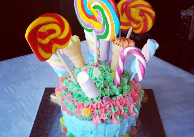 Cupcake Gigante con golosinas!