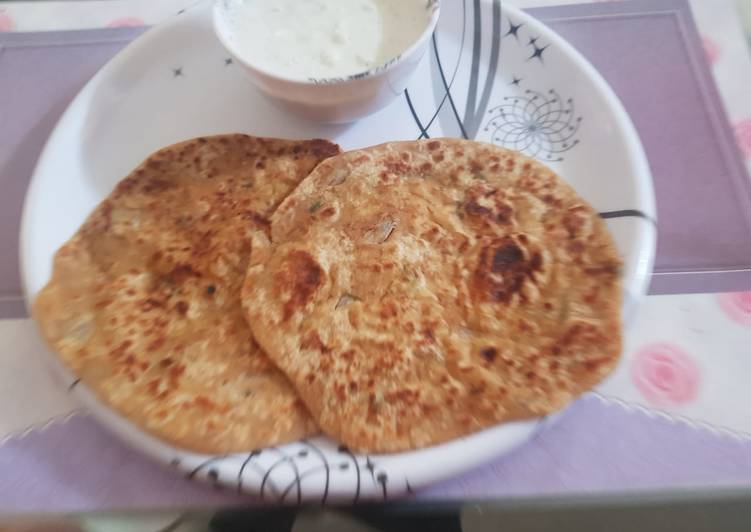 How to Make Most Popular Sev stuffed paratha