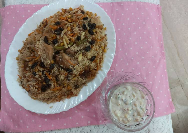 What is Dinner Easy Homemade Chicken Afghani pulao